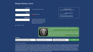 myDesk   Morgan Stanley