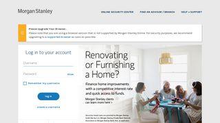 Login - Morgan Stanley Online - Morgan Stanley ClientServ