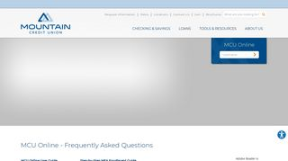 FAQs - Mountain Credit Union