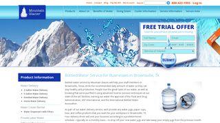 Bottled Water Service Brownsville TX - Mountain Glacier