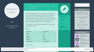 Creating Login Security using Access VBA   ScottGem's space