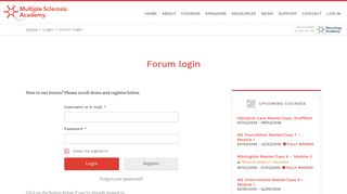 Forum login : MS Academy