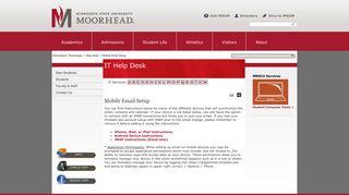 Mobile Email Setup | Help Desk | Minnesota State University Moorhead