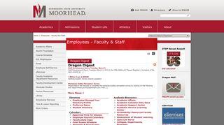 Employees | Faculty & Staff | Minnesota State University Moorhead
