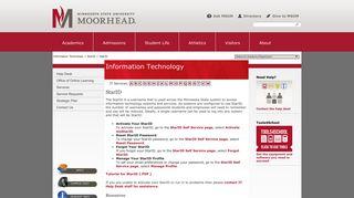 StarID | Information Technology | Minnesota State University Moorhead