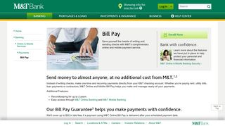 Bill Pay - Online Bill Payment Service - Banking | M&T Bank