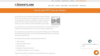 Hurricane MTA Server Basics - SocketLabs Email Delivery Solutions