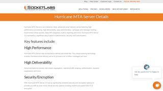 Hurricane MTA Server Details - SocketLabs Email Delivery Solutions
