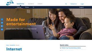 Internet | High-Speed Home Internet | MTA Residential Internet ...