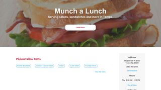 Munch a Lunch - Tempe | View our menu, reviews & Order food online