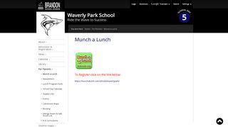 Munch a Lunch - Brandon School Division