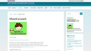 Munch a Lunch   Westwind Elementary School