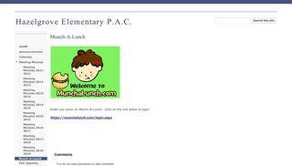 Munch-A-Lunch - Hazelgrove Elementary P.A.C.