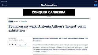 Found on my walk: Antonia Aitken's 'honest' print exhibition