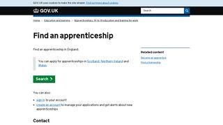 Find an apprenticeship - GOV.UK
