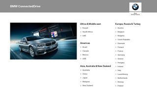 BMW ConnectedDrive Country Selection