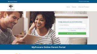 MyProcare Login   Online Parent Portal