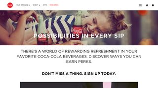 Sign Up & Earn Rewards Drinking Coke Beverages | Coca-Cola®