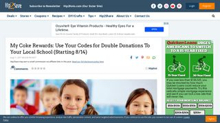 My Coke Rewards: Use Your Codes for Double Donations To Your ...
