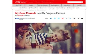 My Coke Rewards Loyalty Program Evolves: The Coca-Cola Company