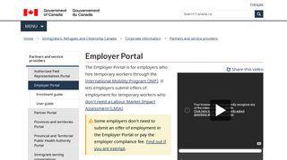 Employer Portal - Canada.ca