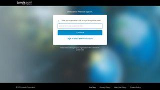 Sign in with your organization portal - Lynda.com