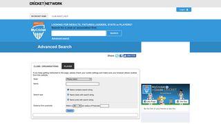 MyCricket - Advanced Search
