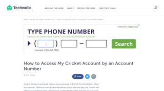 How to Access My Cricket Account by an Account Number | Techwalla ...
