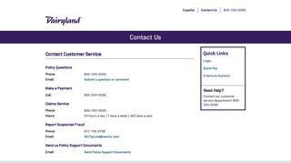 Contact Us | My Dairyland Insurance