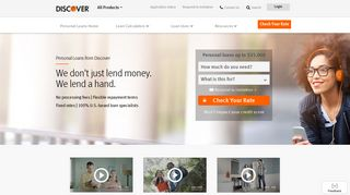 Personal Loans with No Origination Fees - Apply Online | Discover