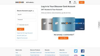 Credit Card Login | Discover Card