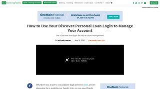 How to Use Your Discover Personal Loan Login to Manage Your ...