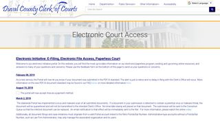 Electronic Court Access - Duval County Clerk of Courts