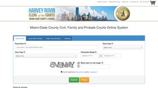 OCS Search - Miami-Dade Clerk of Courts