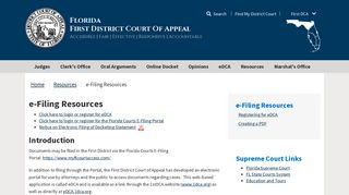 e-Filing Resources - First District Court of Appeal