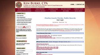 Pinellas Public Records Login