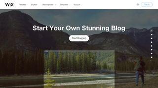 Create a Free Blog | How to Start a Blog Site | Wix.com
