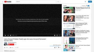Leeco Account Problem Fixed| Login into Leeco Account| Permanent ...