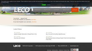password reset - LECO Corporation