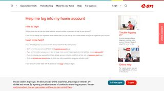 Help me log in | Your Account - E.ON