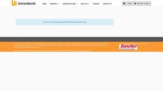 UnionBank of the Philippines - EON CyberAccount Login
