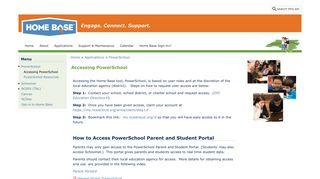 Accessing PowerSchool   Home Base
