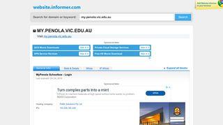 my.penola.vic.edu.au at WI. MyPenola Schoolbox - Login