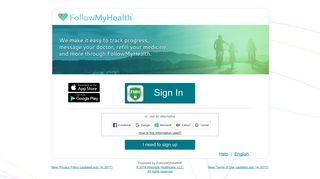 FollowMyHealth® Sign In