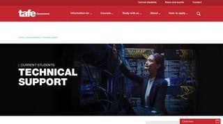 Technical support - TAFE Queensland