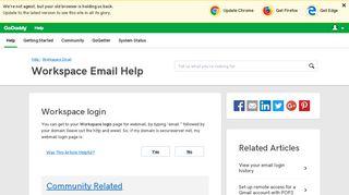 Workspace login | Workspace Email - GoDaddy Help US