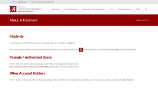 Make A Payment – University of Alabama Student Account Services