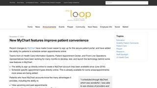 New MyChart features improve patient convenience | The Loop