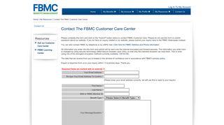 MyFBMC - Contact The FBMC Customer Care Center