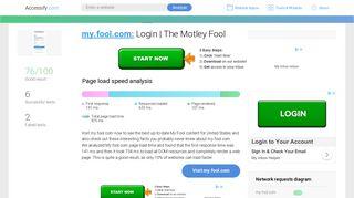 Access my.fool.com. Login | The Motley Fool